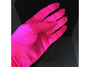 Saténové růžové rukavičky