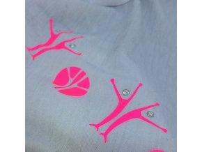 šátek s MIA potiskem, bílý