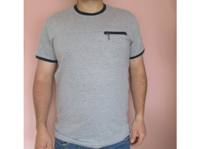 Šedé tričko Pierre Cardin