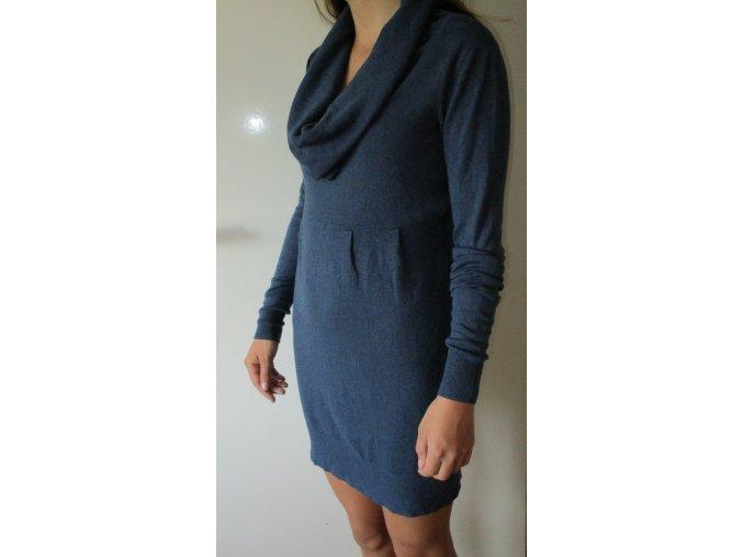 Šaty modré - pletené Cache Cache