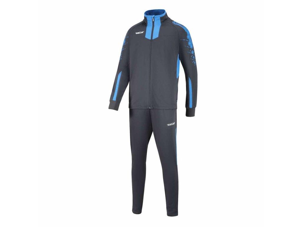 trainingsanzug sallercore2 anthrazit hellblau frontalansicht 600x600@2x