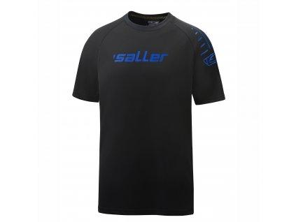 promo t shirt sallerultimate schwarz blau frontalansicht