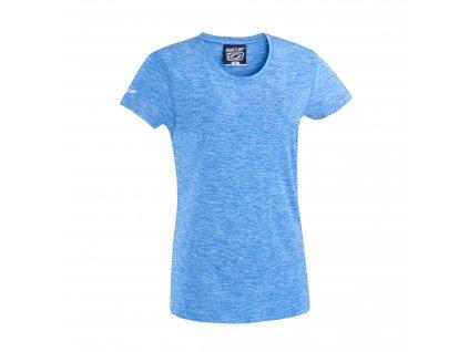 damen t shirt sallerbase blau melange frontalansicht