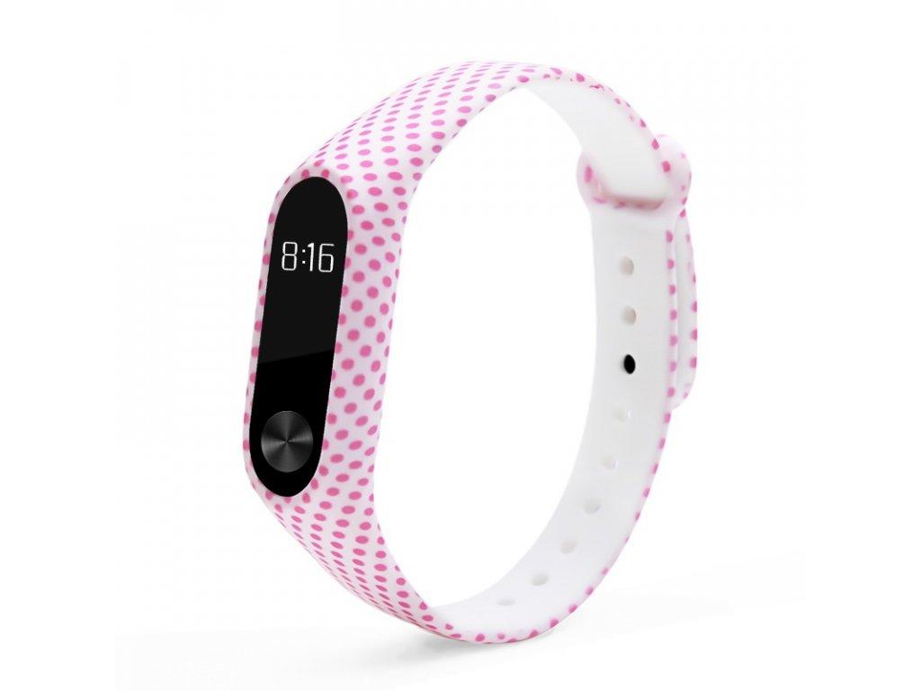 Mi Band 2 náhradní náramek růžové puntíky
