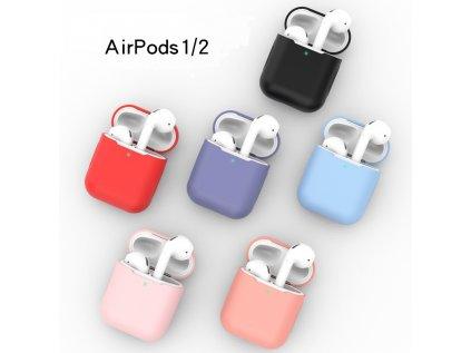 Jednobarevny obal airpods 1 2 hl