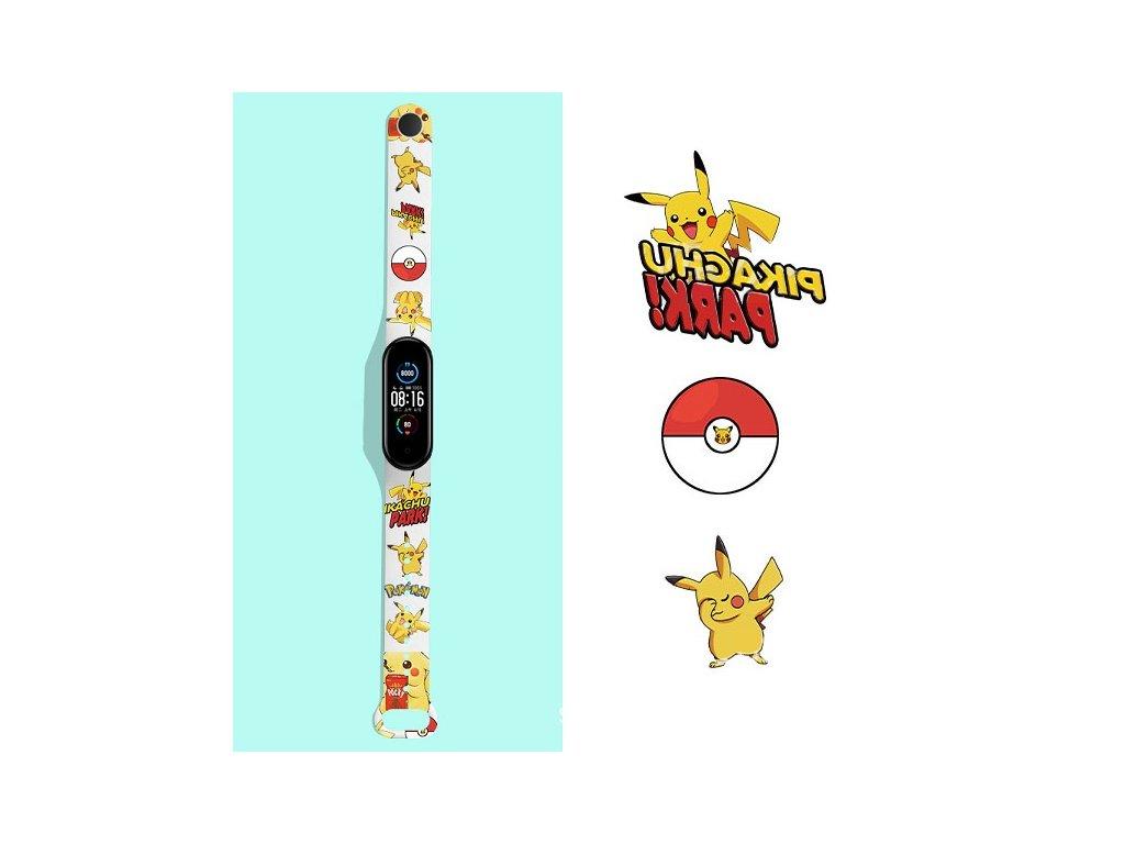 Snoopy Mi Band 5 nahradni naramek pikachu
