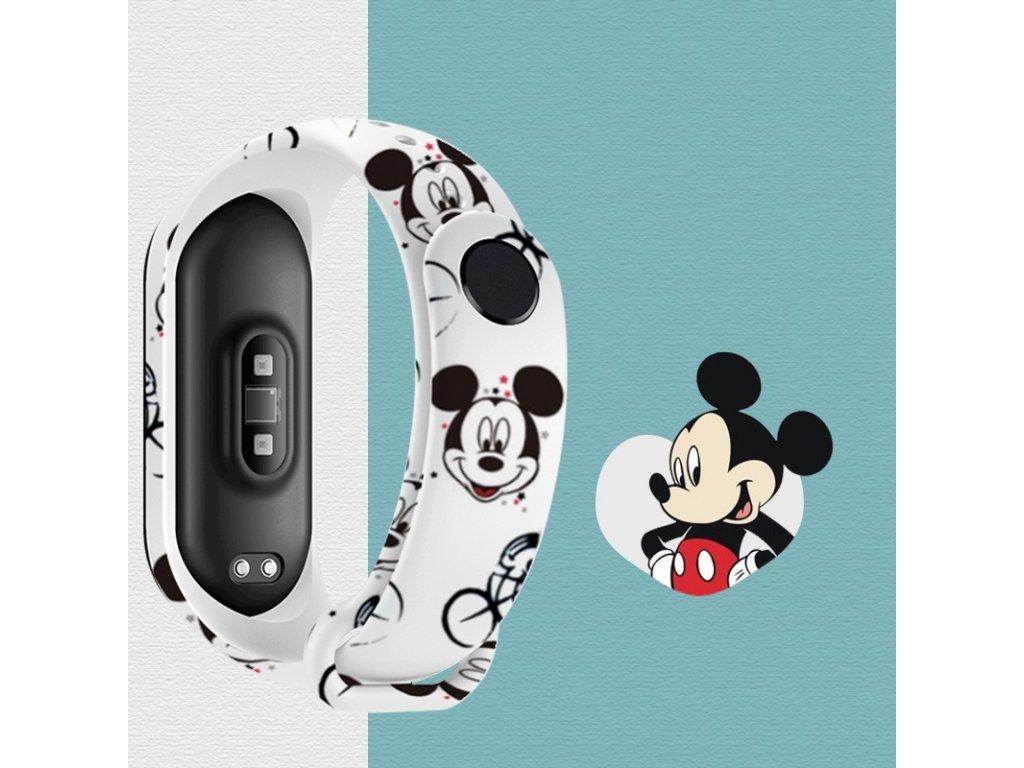 Snoopy Mi Band 5 nahradni naramek mickey mouse bily