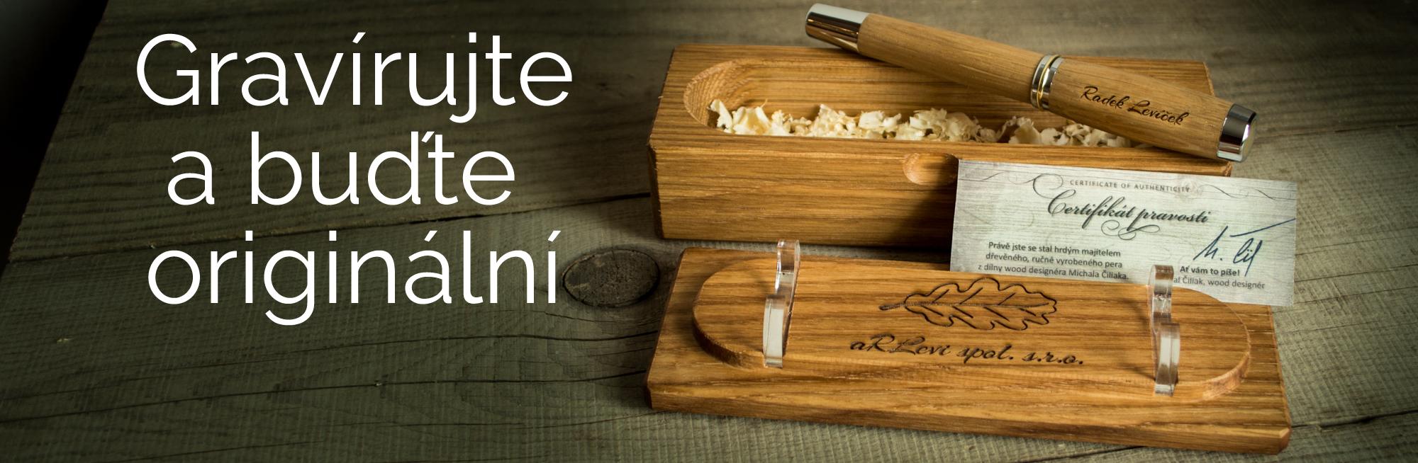 Gravírování na pero, nebo dřevěnou krabičku