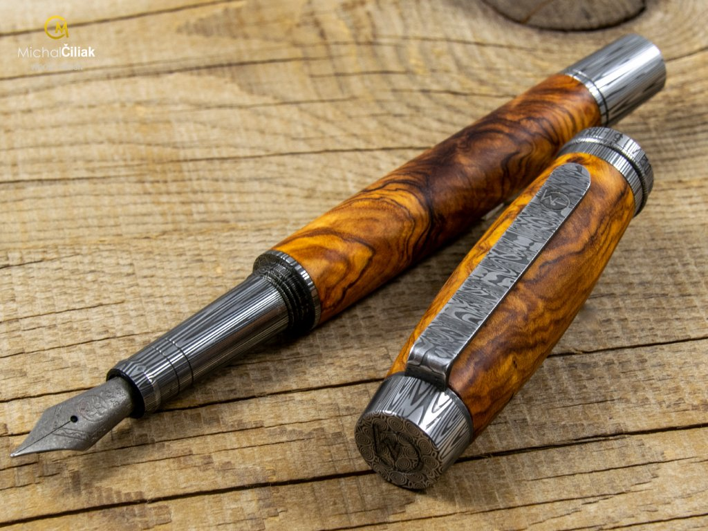 damascus pen by michal ciliak mawimbi limited edition 2020 1 2
