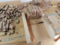 Vorbereitung kleinerer Stücke für das Drehen