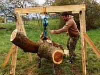 Holzschnitt im  Garten eines meiner Freunde. Danke für das Holz :)