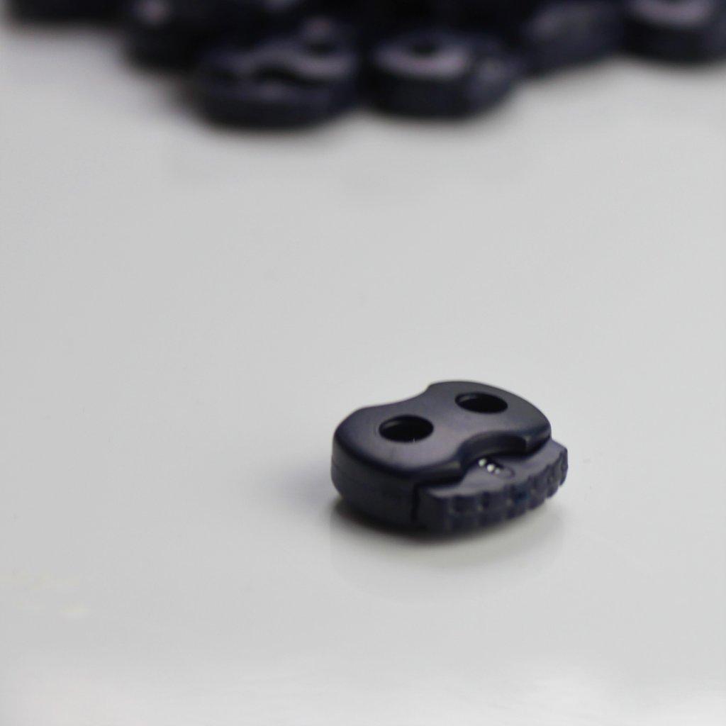 brzda brzdička šňůrky modrá navy 17mm 2díry