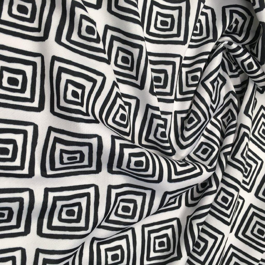 Černobílá 707024 (vyberte materiál zimní softshell elastický (šíře 150cm) 280g  10000/10000)