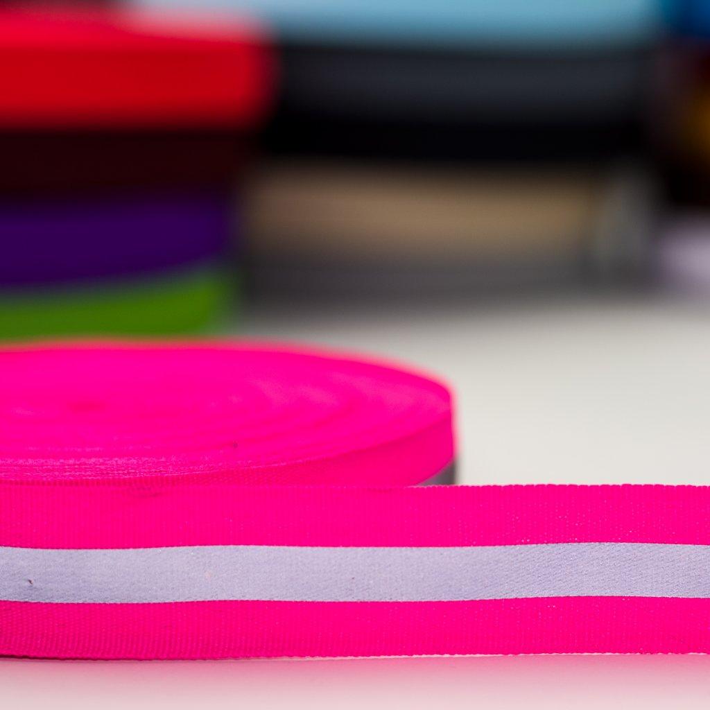 reflexní pásek růžový