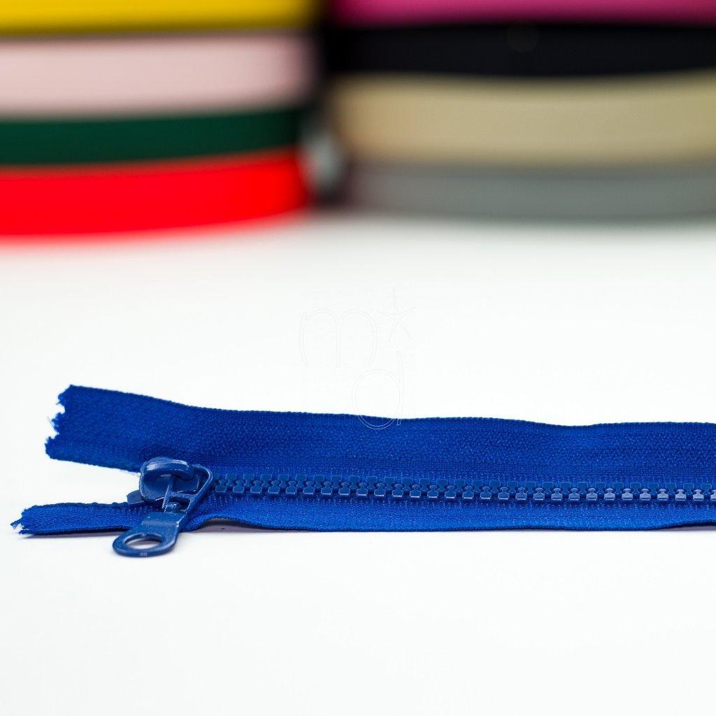 zip kostěný nedělitelný 20cm - modrý