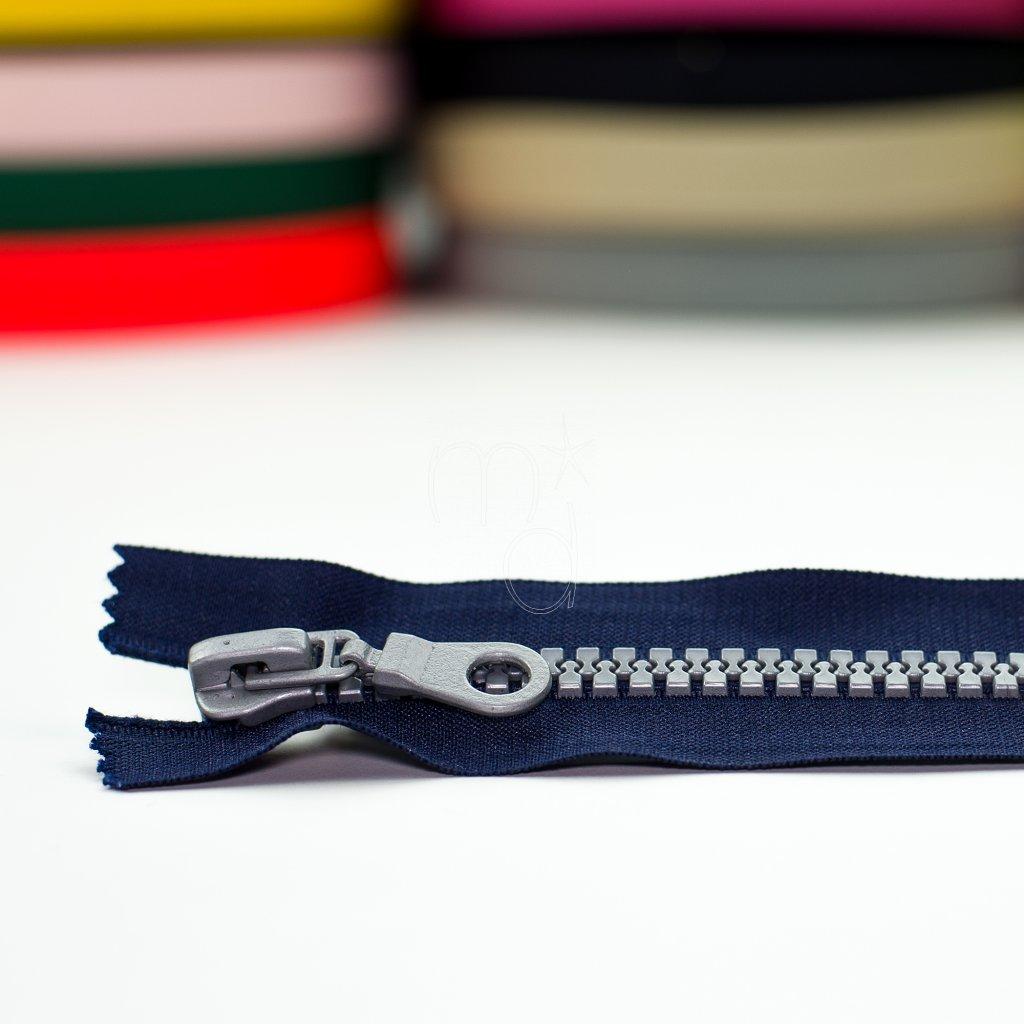 zip kostěný nedělitelný 16cm - modrý