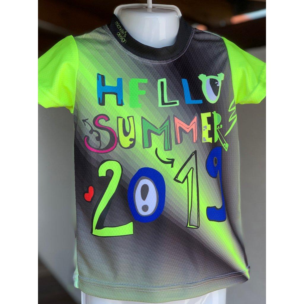 dětské funkční tričko Slovácké léto Summer yelow