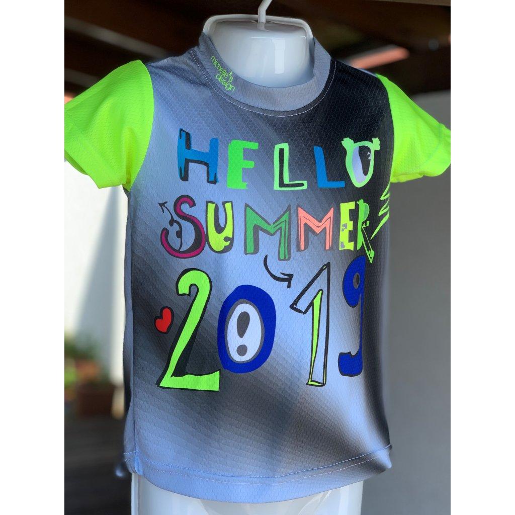 dětské funkční tričko Slovácké léto Summer gray