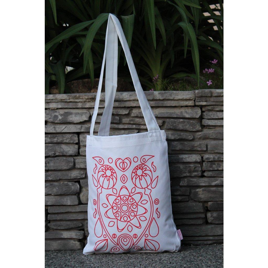 nákupní taška folklór bílá 450322