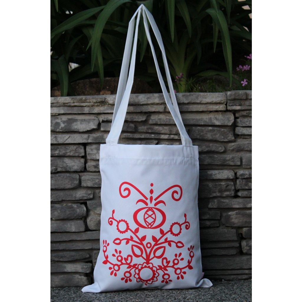 nákupní taška folklór bílá 450321