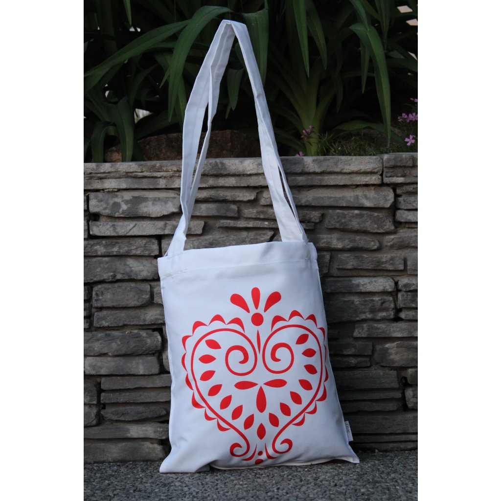 nákupní taška folklór bílá 450323