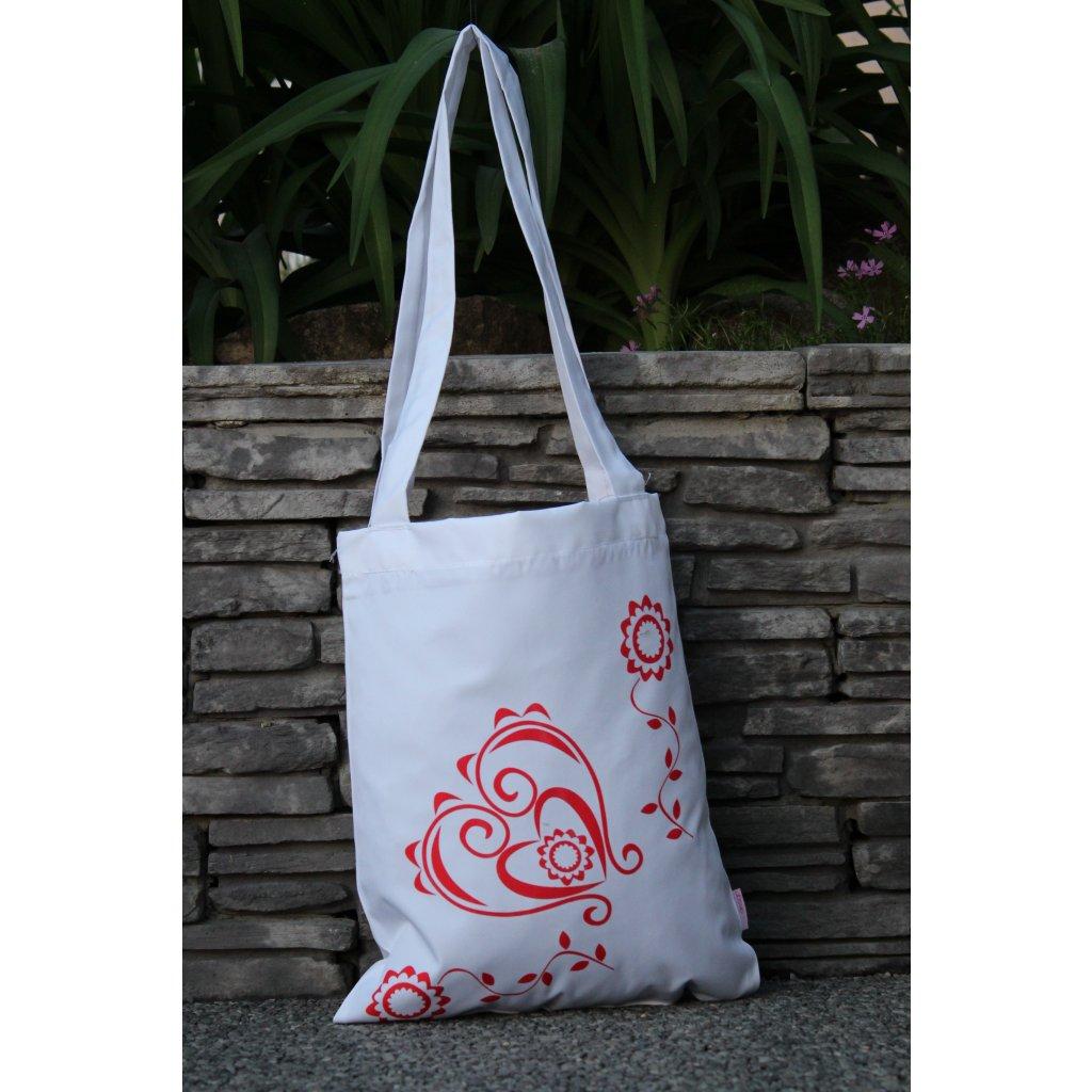 nákupní taška folklór bílá 450318