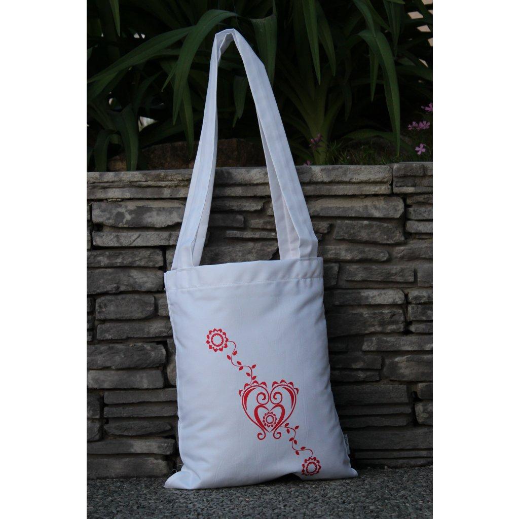 nákupní taška folklór bílá 450319
