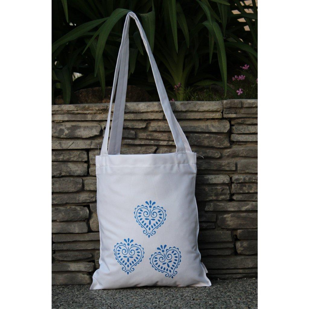 nákupní taška folklor bílá 450315