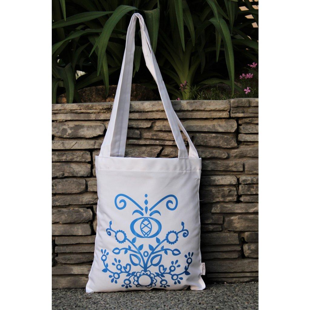 nákupní taška folklor bílá 450314