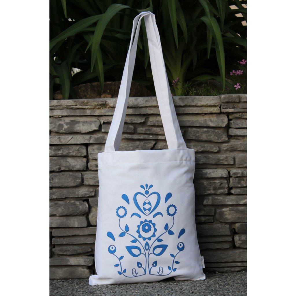 nákupní taška folklor bílá 450316