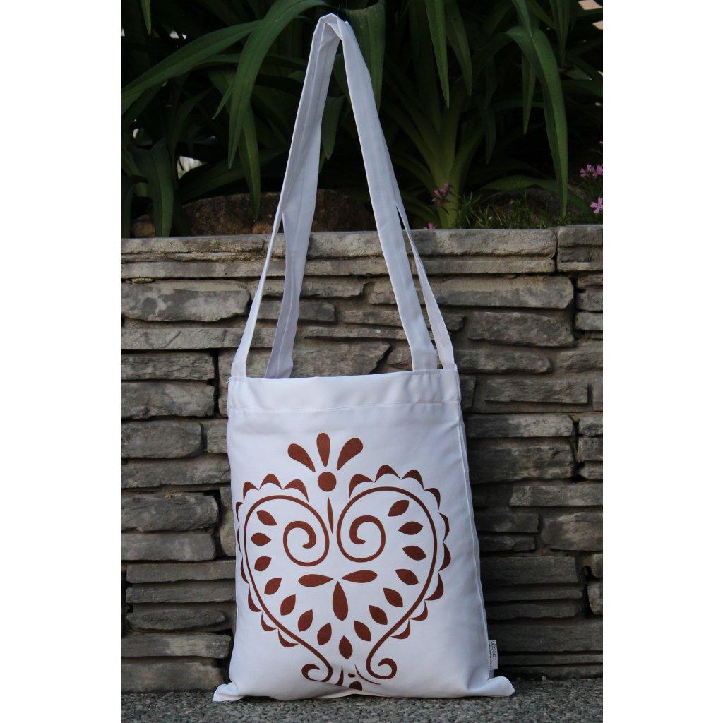 nákupní taška folklor bílá 450317