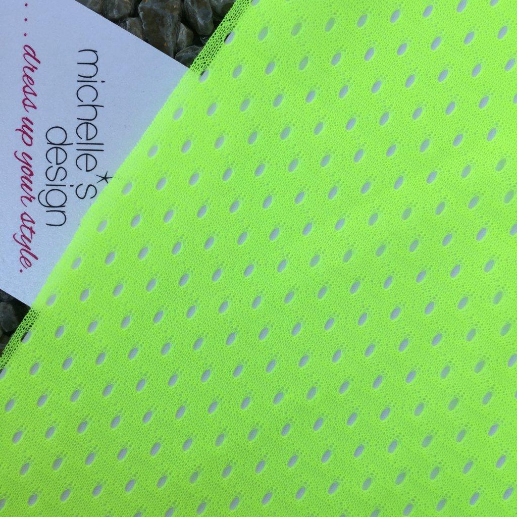 síťovina oděvní elastická reflexní žlutá
