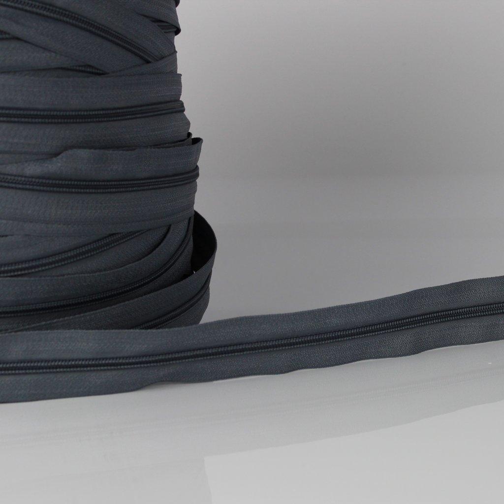 zip nekonečný No5 šedý 250114