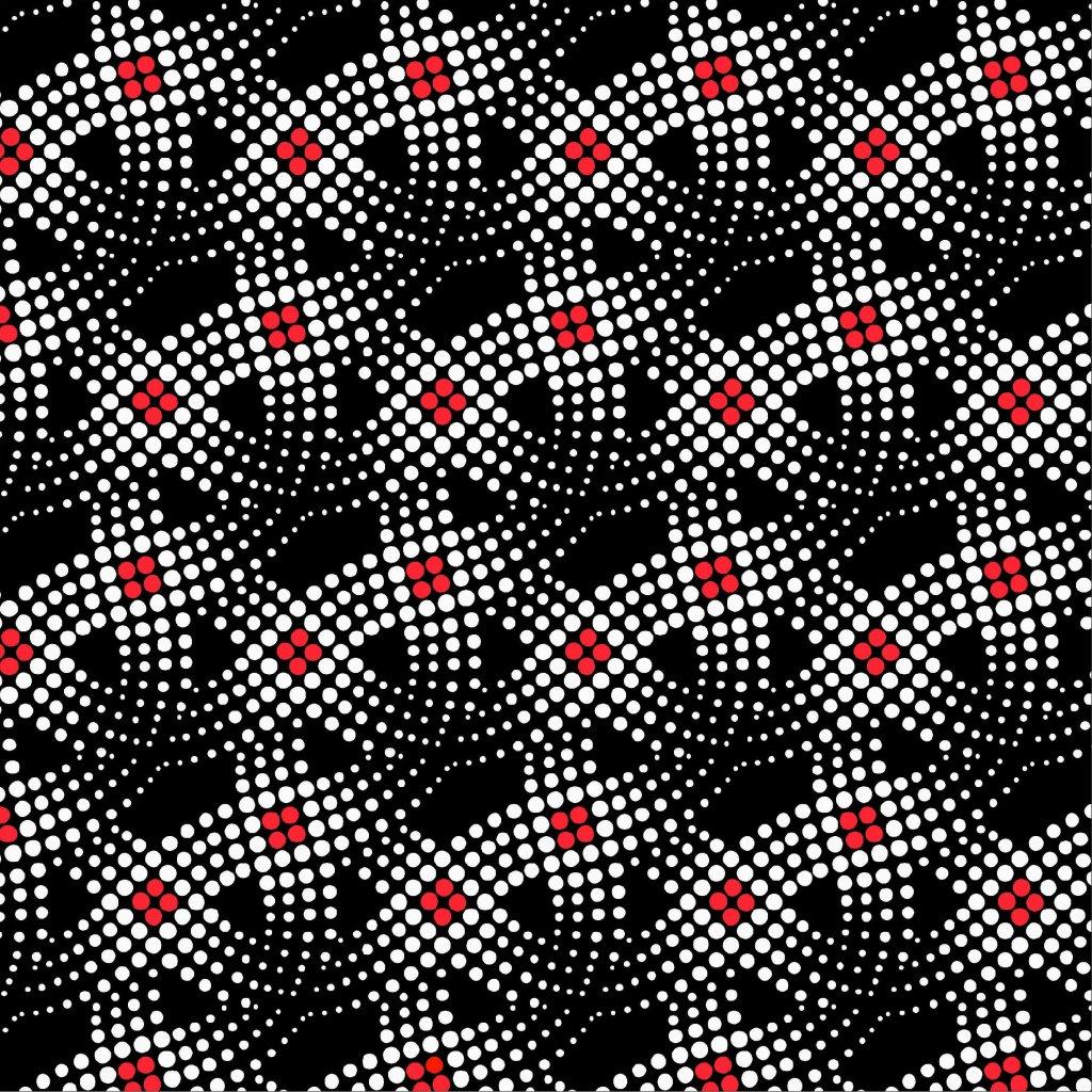 tečky s červenou na černé 748002 (vyberte materiál zimní softshell elastický (šíře 150cm) 280g  10000/10000)