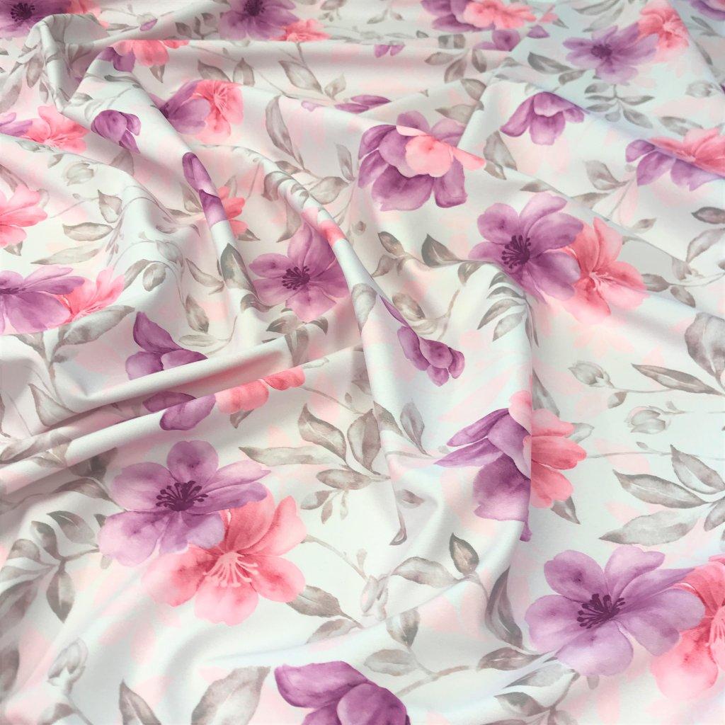 akvarel květy 702067 (vyberte materiál zimní softshell elastický (šíře 150cm) 280g  10000/10000)