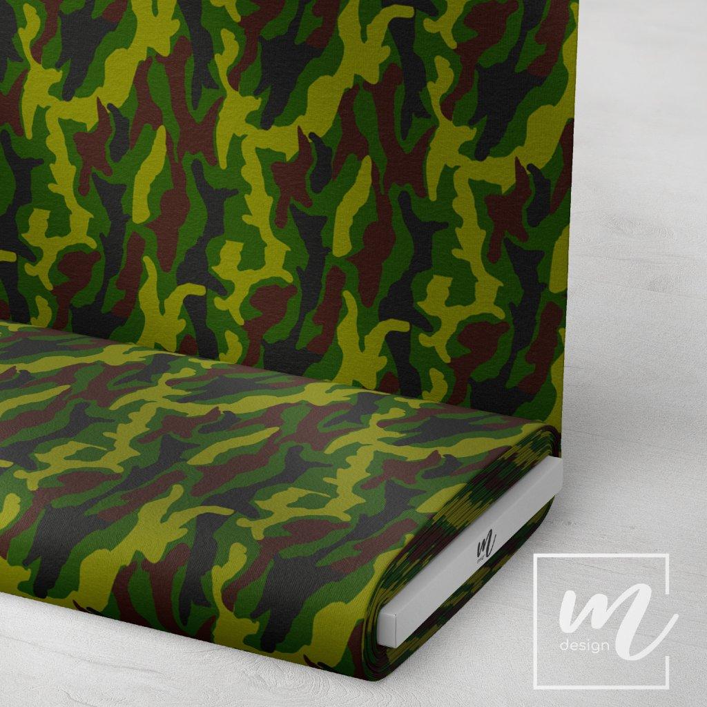 maskáč zelený 731002 (vyberte materiál zimní softshell elastický (šíře 150cm) 280g  10000/10000)