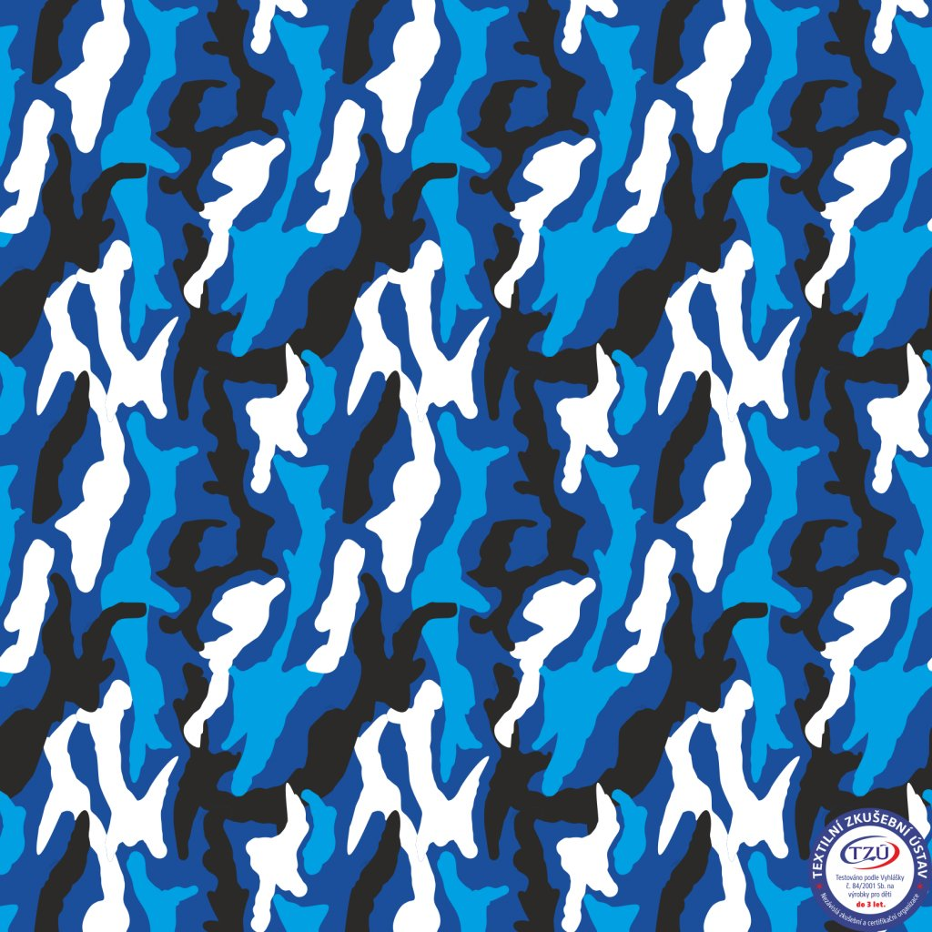 maskáč modrý 731005 (vyberte materiál zimní softshell elastický (šíře 150cm) 280g  10000/10000)