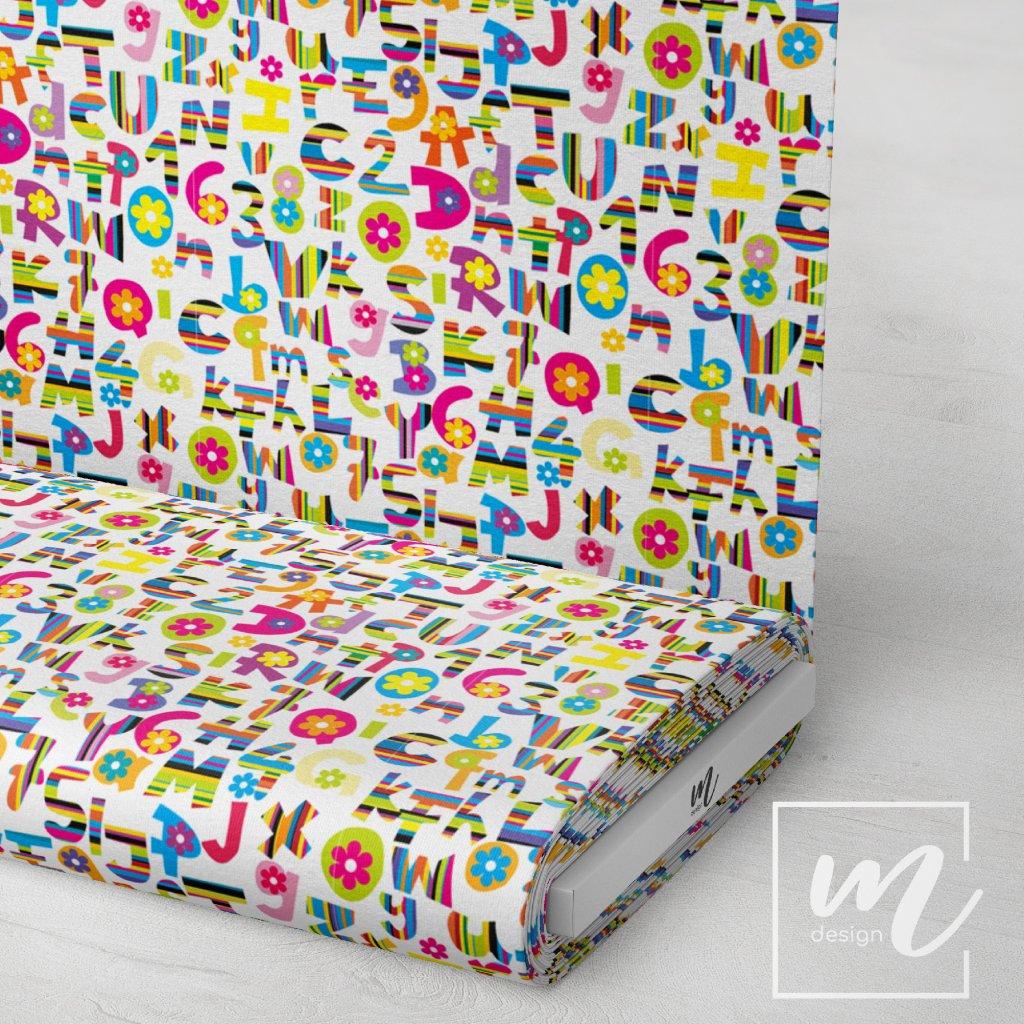 písmenka girls na bílé 754006 (vyberte materiál zimní softshell elastický (šíře 150cm) 280g  10000/10000)