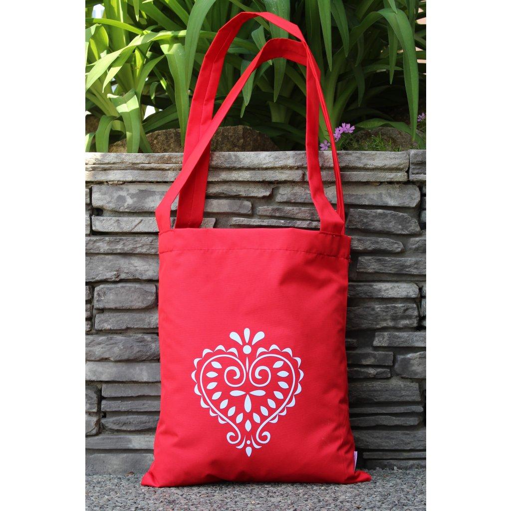 nákupní taška folklor červená 450300