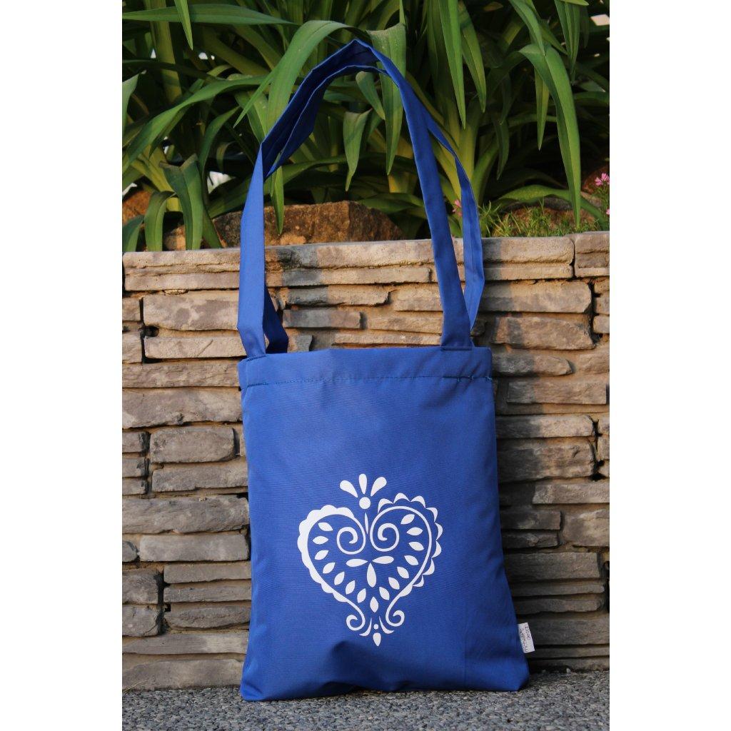 nákupní taška folklor modrá 450305