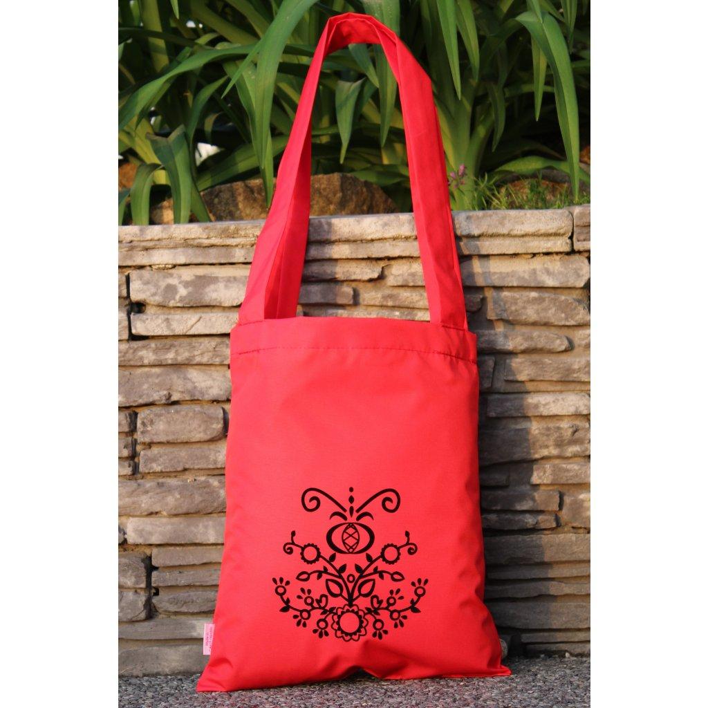 nákupní taška folklor červená 450301