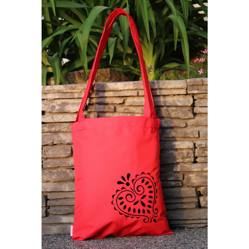 nákupní taška folklor červená 450302
