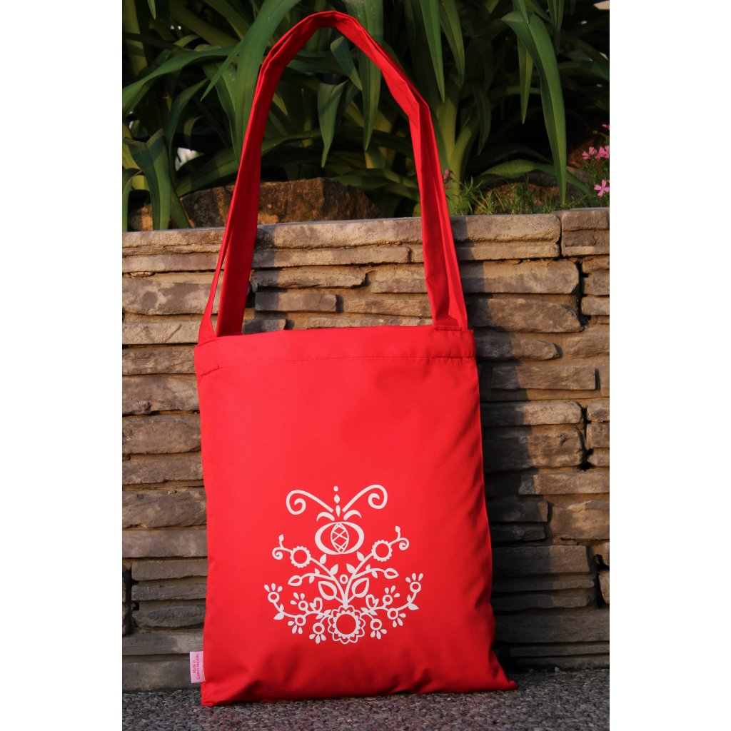 nákupní taška folklor červená 450303