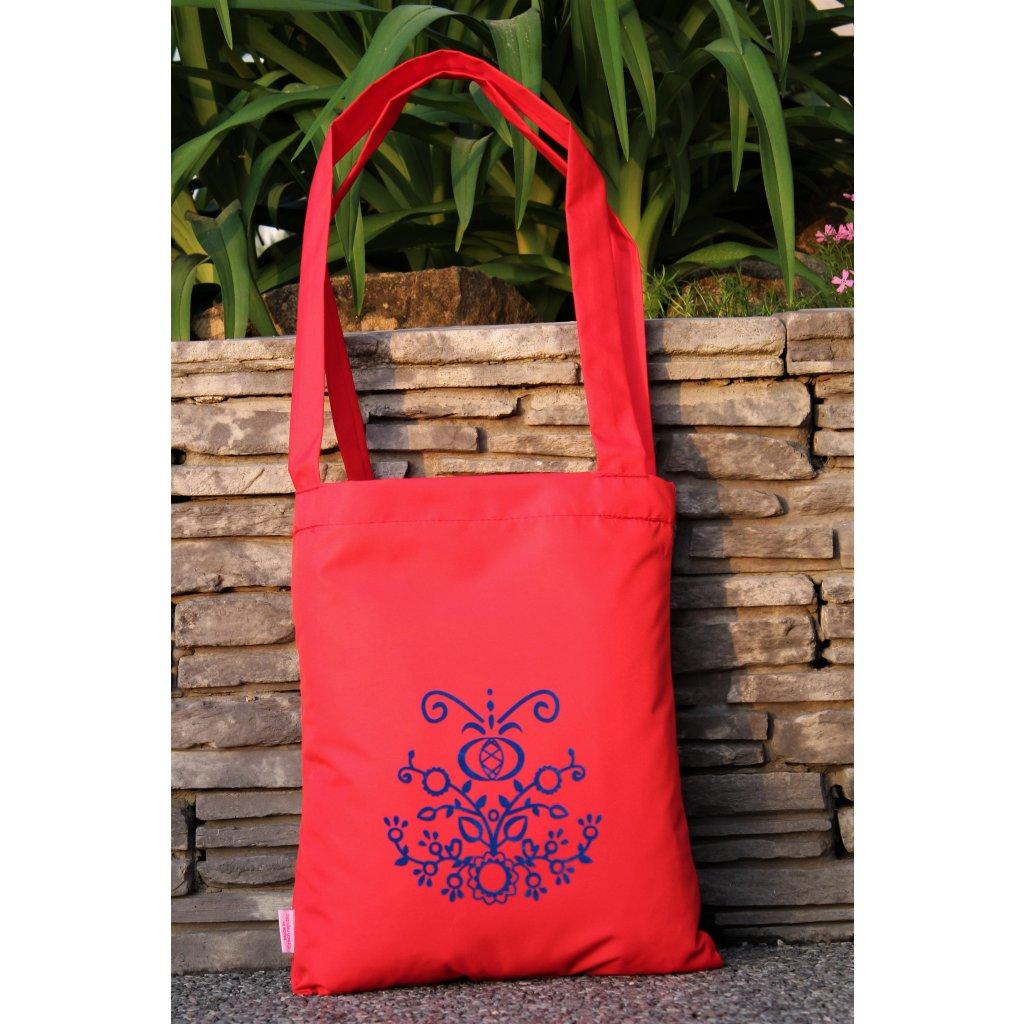 nákupní taška folklor červená 450304