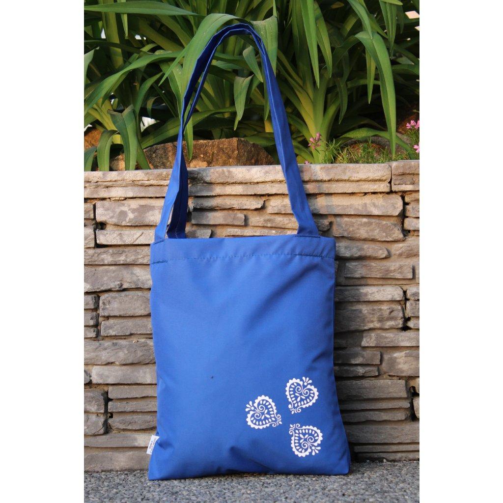 nákupní taška folklór modrá 450306