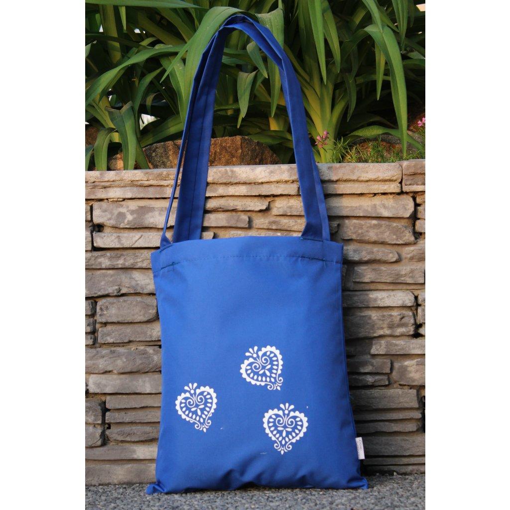 nákupní taška folklór modrá 450307