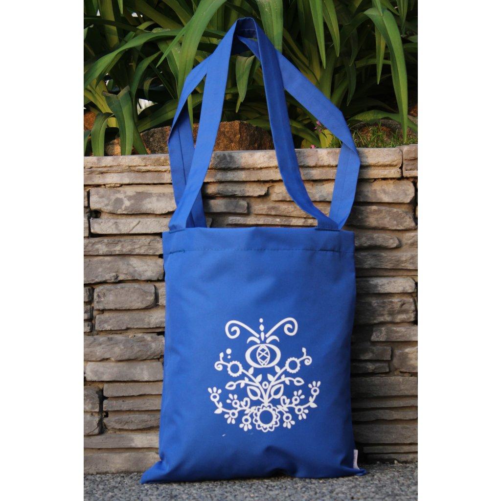 nákupní taška folklór modrá 450308