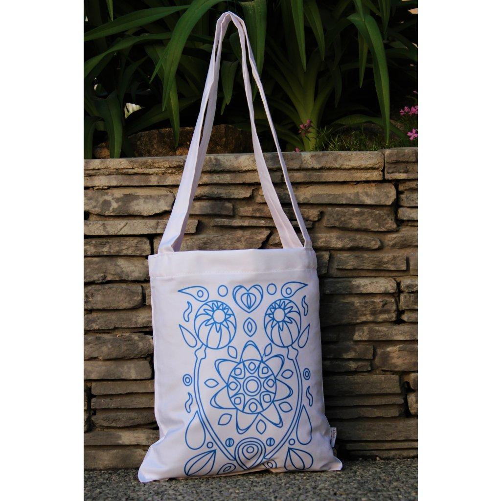 nákupní taška folklor bílá 450311