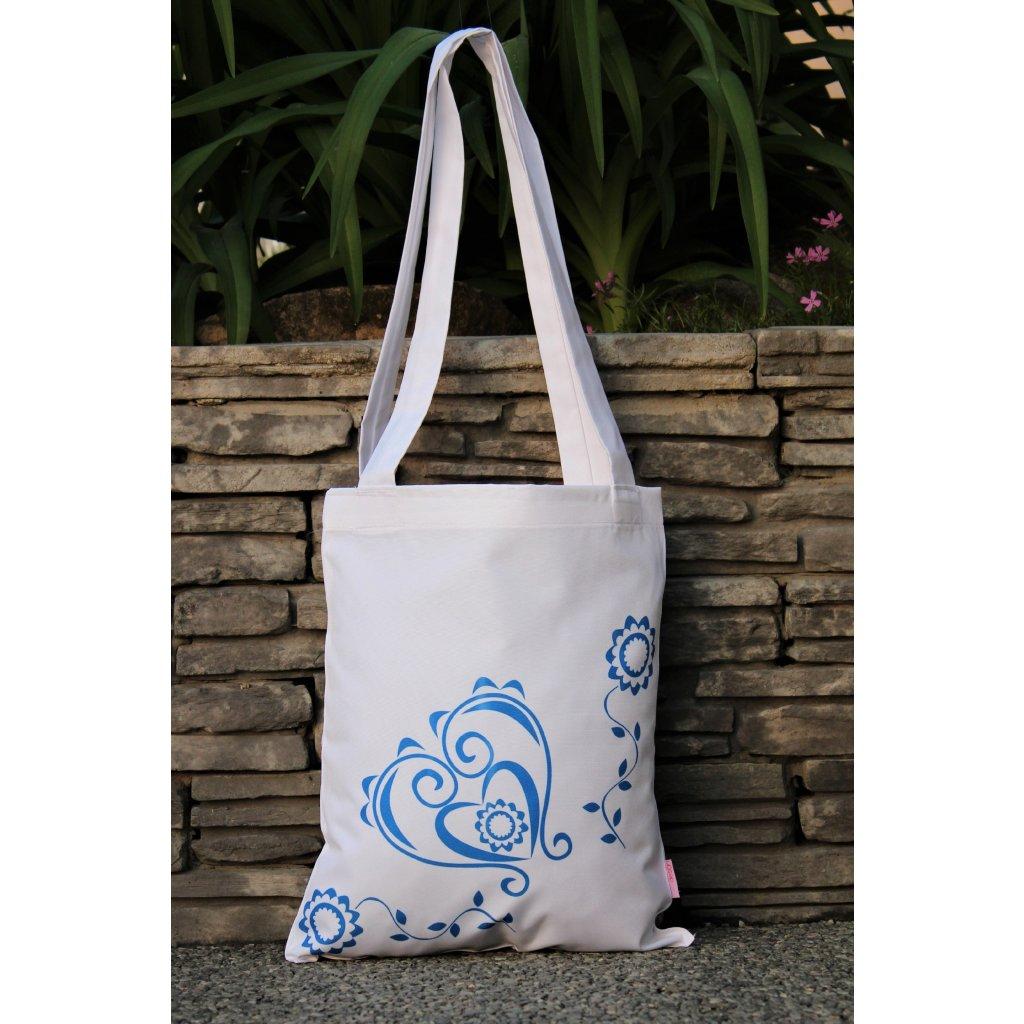 nákupní taška folklór bílá 450312