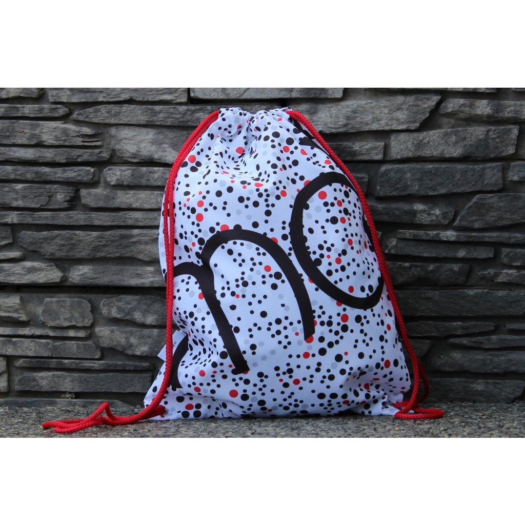 450121 vak DOTS White Red (1)